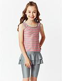 povoljno Majice za dječake-Djeca Djevojčice Boho Sport Color block Classic Style Rukava do lakta Bez rukávů Kupaći kostim Blushing Pink