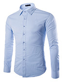 tanie Męskie koszule-Koszula Męskie Bawełna Praca Jendolity kolor / Wybierz rozmiar o jeden większy od Twojego normalnego rozmiaru. / Długi rękaw