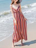 baratos Vestidos de Mulher-Mulheres Praia Chifon Vestido Com Alças Longo