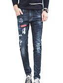 ieftine Pantaloni Bărbați si Pantaloni Scurți-Bărbați Simplu Blugi Pantaloni Geometric