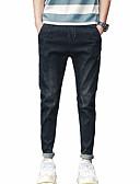 זול חולצות פולו לגברים-בגדי ריקוד גברים כותנה רזה ג'ינסים מכנסיים אחיד