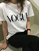 cheap Women's Pants-Women's Cotton T-shirt - Solid Colored / Letter