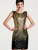cheap Women's Skirts-Women's Bodycon Dress - Color Block V Neck