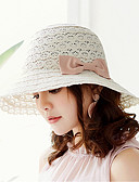 abordables Sombreros de mujer-Mujer Ahuecado Sombrero para el sol - Vacaciones Un Color