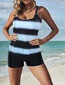levne Bikini a plavky-Dámské Základní Ramínka Fialová Fuchsiová Námořnická modř Tanga Tankini Plavky - Jednobarevné XXL XXXL XXXXL Fialová / Sexy