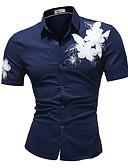 ieftine Tricou Bărbați-Bărbați Mărime Plus Size Cămașă Floral / Manșon scurt
