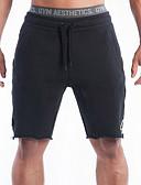baratos Calcinhas-Homens Shorts de Corrida - Preto, Cinzento Esportes Shorts Fitness, Ginásio, Exercite-se Roupas Esportivas Respirável, Confortável, Redutor de Suor Com Stretch
