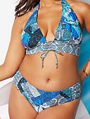povoljno Bikini i kupaći 2017-Žene Osnovni Na vezanje oko vrata Tankini - Color block, Visoki struk