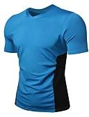 ieftine Maieu & Tricouri Bărbați-Bărbați Tricou De Bază - Bloc Culoare Peteci