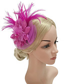 cheap Historical & Vintage Costumes-Women's Vintage / Elegant Headband / Hair Clip / Fascinator - Solid Colored Flower