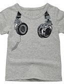 billige Topper til gutter-Barn Gutt Aktiv Daglig Trykt mønster Trykt mønster Kortermet Normal Bomull T-skjorte Hvit