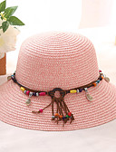cheap Men's Hats-Women's Basic / Holiday Straw Hat - Solid Colored