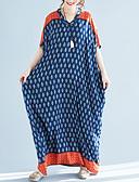 ieftine Rochii Maxi-Pentru femei De Bază Supradimensionat Pantaloni - Geometric Albastru piscină / Maxi / În V