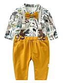 povoljno Baby Boys' One-Piece-Dijete Dječaci Print Dugih rukava Komplet odjeće