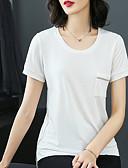 זול טישרט-חולצה לנשים - צוואר בצבע מלא