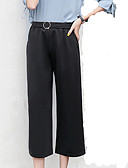 cheap Women's Skirts-Women's Cotton Chinos Pants - Solid Colored Black