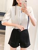 cheap Women's Blouses-women's blouse - solid colored crew neck