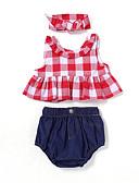 ieftine Rochii Fete-Bebelus Fete Activ / De Bază Zilnic / Sport Mată Funde Fără manșon Regular Regular Bumbac Set Îmbrăcăminte Roșu-aprins / Copil