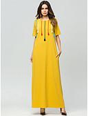 tanie Damska spódnica-Damskie Podstawowy Abaya Sukienka - Geometric Shape, Patchwork Maxi / Lato