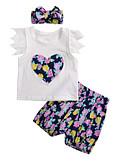 povoljno Kompletići za bebe-Dijete Djevojčice Aktivan Print Kratkih rukava Duga Pamuk Komplet odjeće