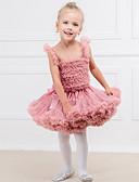 tanie Spodnie dla niemowląt-Dziecko Dla dziewczynek Moda miejska Solidne kolory Bawełna Spódnica Szary / Brzdąc