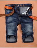 ieftine Pantaloni Bărbați si Pantaloni Scurți-Bărbați Zvelt Blugi / Pantaloni Scurți Pantaloni Mată