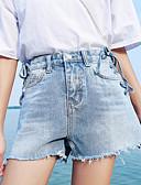 povoljno Ženske hlače-Žene Pamuk Traperice / Kratke hlače Hlače Jednobojni