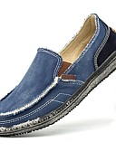cheap Men's Shirts-Men's Denim Summer Comfort Loafers & Slip-Ons Dark Blue / Gray / Khaki