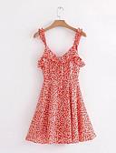 baratos Vestidos de Mulher-Mulheres Feriado Delgado Evasê Vestido Com Alças Médio