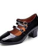 baratos Leggings para Mulheres-Mulheres Sapatos de Dança Moderna Pêlo Sintético Salto Salto Cubano Personalizável Sapatos de Dança Branco / Preto