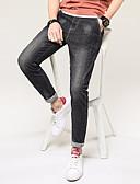 זול טרנינגים וקפוצ'ונים לגברים-בגדי ריקוד גברים מידות גדולות רזה ג'ינסים מכנסיים אחיד
