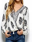 billige T-skjorter til damer-V-hals Skjorte Dame - Blomstret