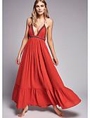 זול שמלות נשים-כתפיה מקסי שמלה סווינג משוחרר בגדי ריקוד נשים