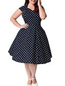 رخيصةأون فساتين مطبوعة-فستان نسائي متموج ميدي V رقبة مناسب للخارج