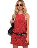 olcso Dresses For Date-Női Tengerpart Bő Egyenes Ruha Térd feletti Terített nyak