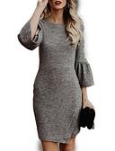 זול שמלות נשים-מעל הברך שמלה נדן ליציאה בגדי ריקוד נשים