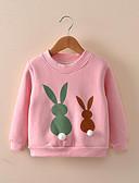 זול חולצות לבנות-חולצה כותנה שרוול ארוך דפוס פעיל בנות ילדים