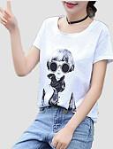 povoljno Majica s rukavima-Majica s rukavima Žene Dnevno Pamuk Jednobojni / Portret Širok kroj, Print / Ljeto