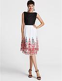 ieftine Tricou-Pentru femei Swing Rochie Floral Talie Înaltă Lungime Genunchi
