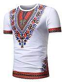 ieftine Tricou Bărbați-Bărbați Tricou Boho - Floral / Bloc Culoare / Tribal Imprimeu