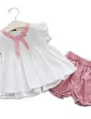 ieftine Set Îmbrăcăminte Bebeluși-Bebelus Fete Activ Zilnic Peteci Peteci Manșon scurt Regular Bumbac / Poliester Set Îmbrăcăminte Trifoi 100 / Copil