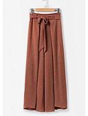 tanie Damskie spodnie-Damskie Podstawowy Luźna Typu Chino Spodnie - Solidne kolory Pomarańczowy