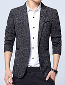 cheap Men's Blazers & Suits-men's work blazer - solid colored shirt collar