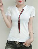 ieftine Tricou-Pentru femei În V Tricou Mată