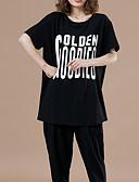 ieftine Tricou-Pentru femei Tricou De Bază - Scrisă Imprimeu
