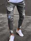 ieftine Polo Bărbați-Bărbați Bumbac Blugi Pantaloni Geometric