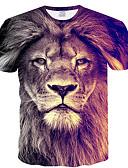 ieftine Maieu & Tricouri Bărbați-Bărbați Tricou Animal Plasă