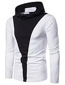 ieftine Maieu & Tricouri Bărbați-Bărbați Tricou De Bază - Bloc Culoare Peteci Albastru & Alb / Alb negru