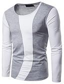 ieftine Maieu & Tricouri Bărbați-Bărbați Tricou De Bază - Bloc Culoare Peteci Negru și gri