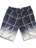 ieftine Pantaloni Bărbați si Pantaloni Scurți-Bărbați De Bază Larg Pantaloni Scurți Pantaloni Bloc Culoare Albastru & Alb